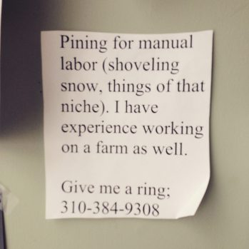 Pining...