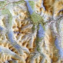 Relief map of this part of Cumbria.