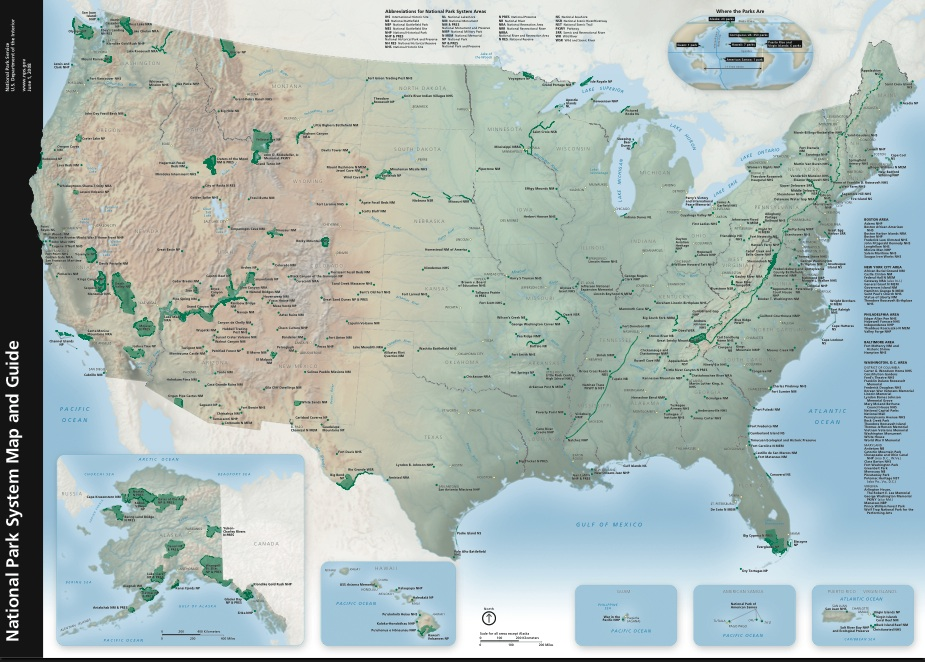 Map of US National Parks