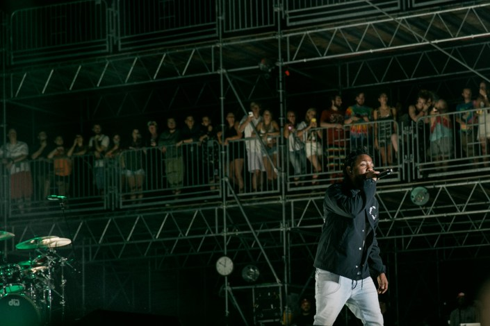 Kendrick Lamar at Bonnaroo 2015