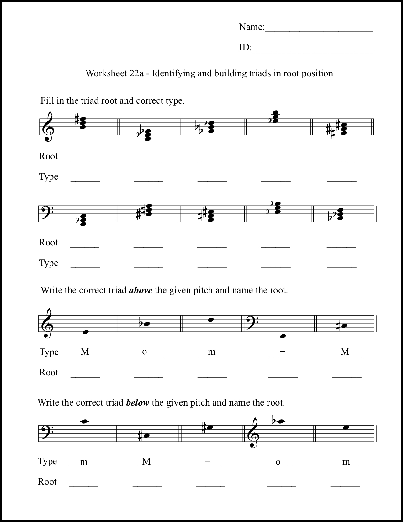 The Sound Of Music Worksheet Answers