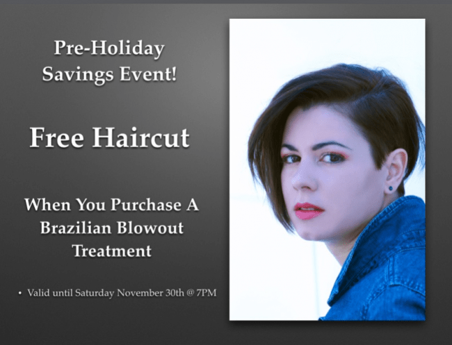 haircut deals nyc free haircut blowout save money hair salon 5262 | Free Haircut With A Brazilian Blowout e1383931985601