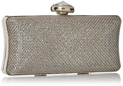 La Regale Crystal Metal Mesh Clutch