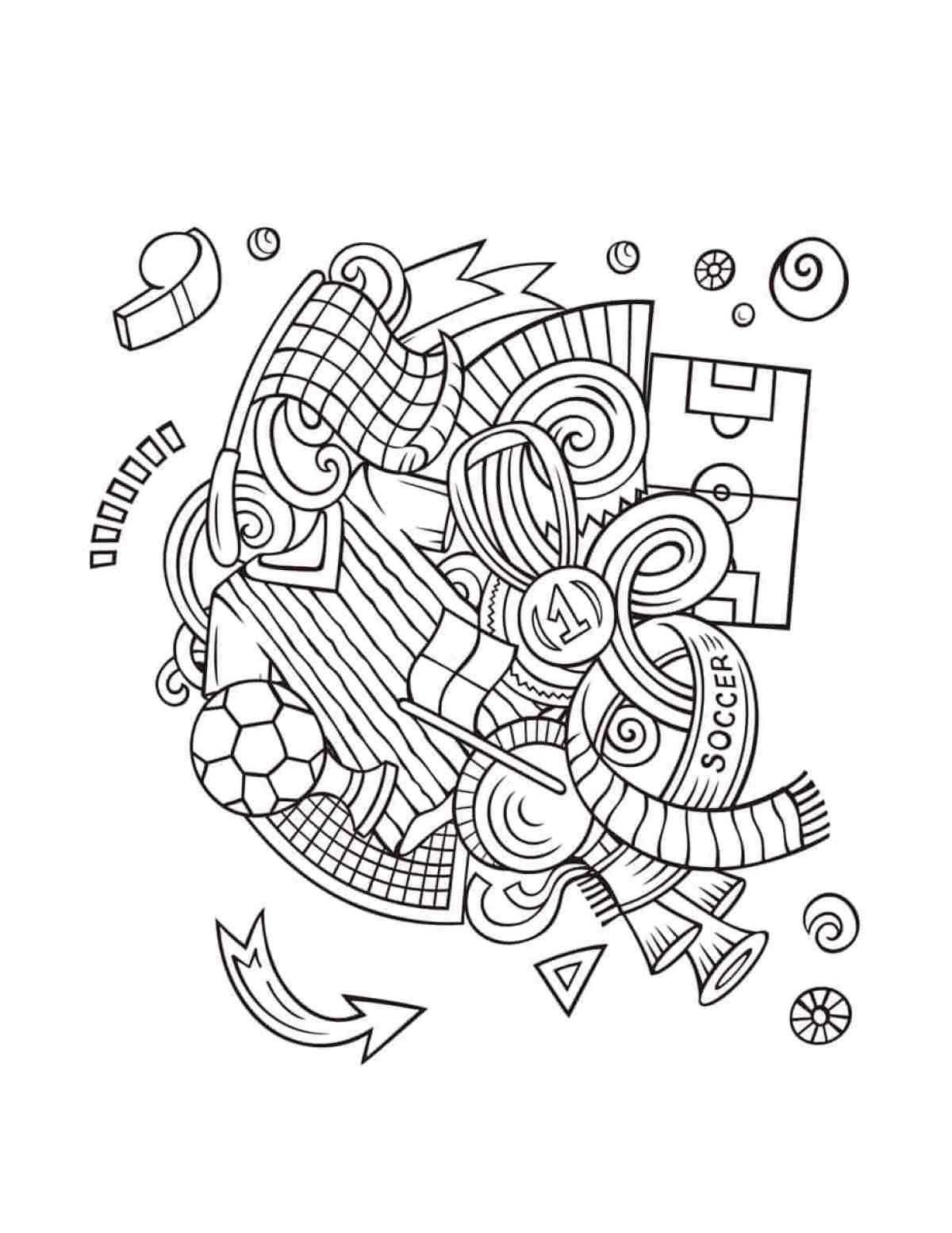 2018 World Cup coloring book for Adult