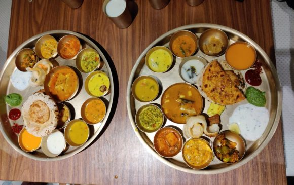 This is the traditional Maharaja Bhog thali.