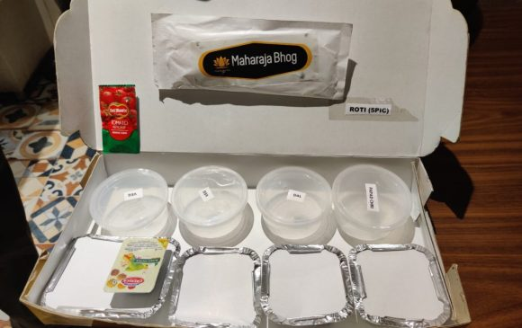 This is the packaging of a Maharaja Bhog Thali.