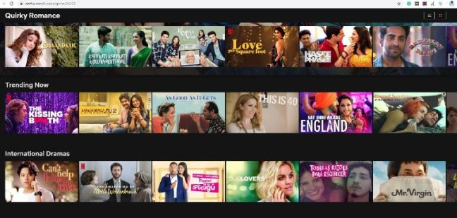 Netflix Categories from the letter Q