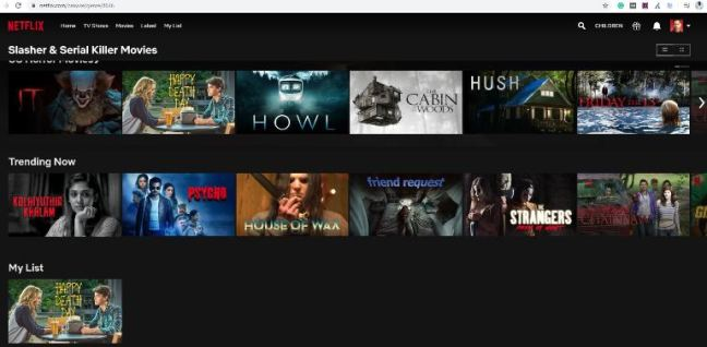 Netflix Categories from the letter S