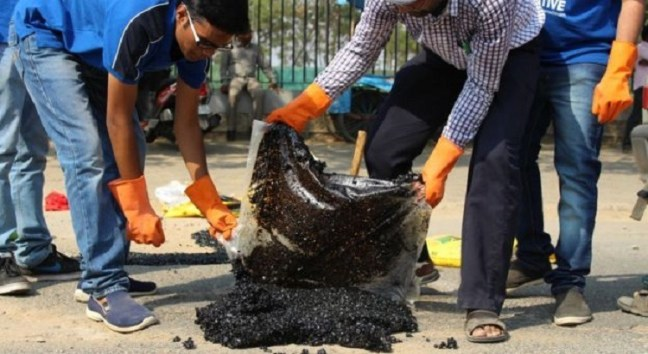 Gangadhara Tilak Katnam - Pothole filler in India