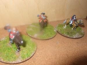 3x Mounted Commanders