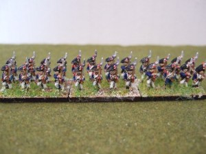 French line infantry bicorn 30 figures