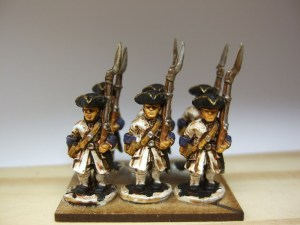 6x Musketeer advancing shouldered musket
