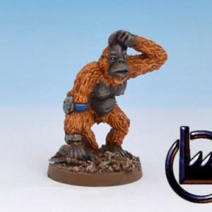 Techno ape-Scratching head