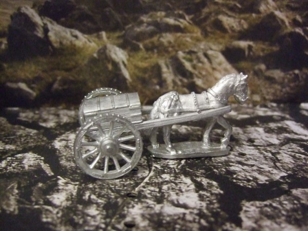 Small Ammo wagon with horse