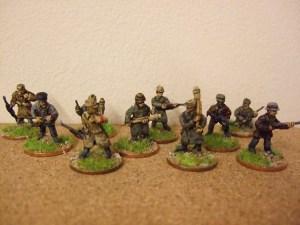 Volksturm x 10 figures various weapons