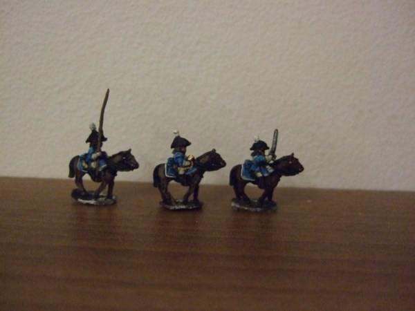 Prussian Dragoon command 3 figures