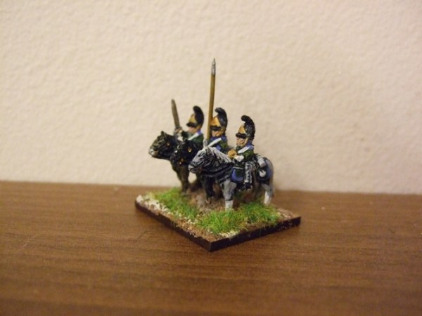 Russian dragoon command 3 figures