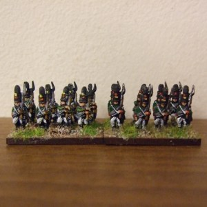 30 Russian Guard, mix of figures marching