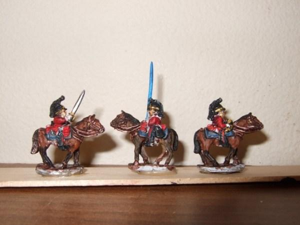 British Post 1812 Dragoon comm 3 figures