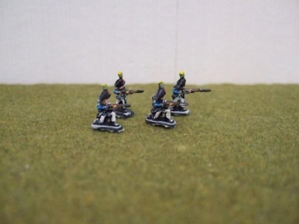 French Bicorns skirmishing x4