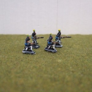 French Bicorns skirmishing x4