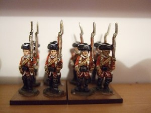 x6 Advancing British Musketeers