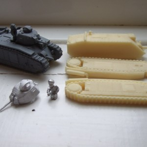 Char B Bis 3 piece resin body, metal turret and officer
