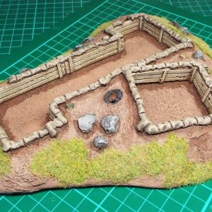 Prepared infantry position with trenches
