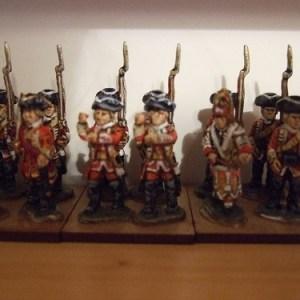 command pack 1 officer 1 drummer 2 standard bearers 1 sergeant