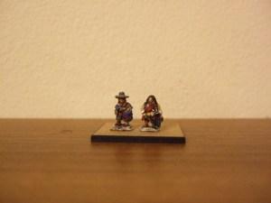Dragoon foot command 1 officer 1 drummer