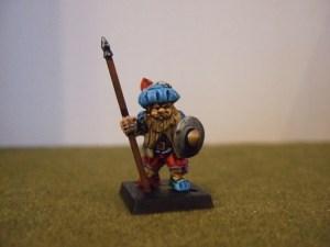Renaissance Dwarf sword axe or spear and Buckler