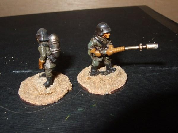 Flamethrower team advancing 2 man