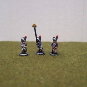 Legere command 1 drummer 1 officer 1 standard