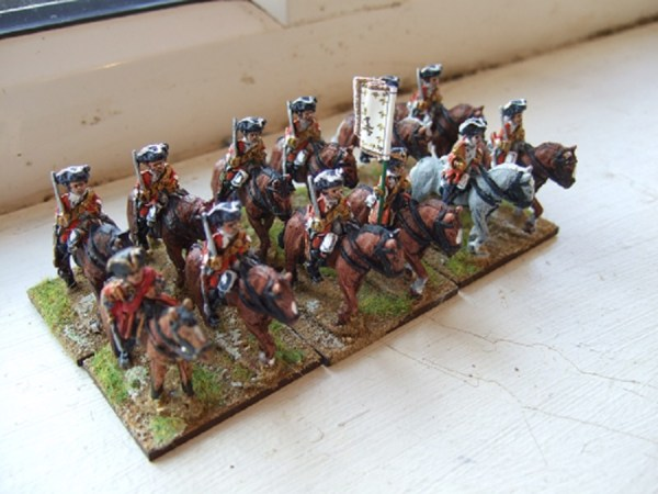 British cavalry pack 12 figures with horses