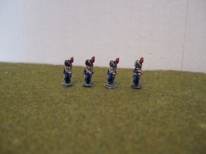 Line Grenadiers in bearskin x4