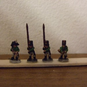 Fusilier comm 2 standar 1 officer 1 horn player