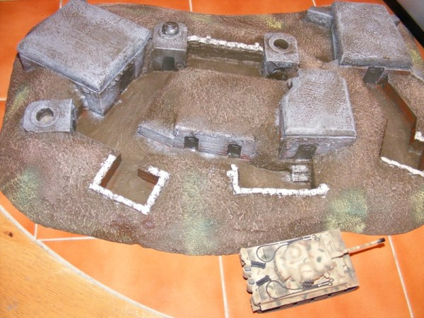 Large Normandy strongpoint, 3 bunkers, 1 tank turret.