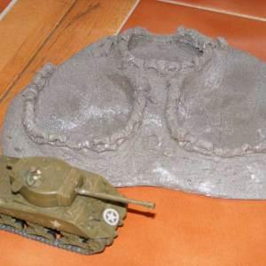 """Twin field gun position, 7"""" by 5"""""""