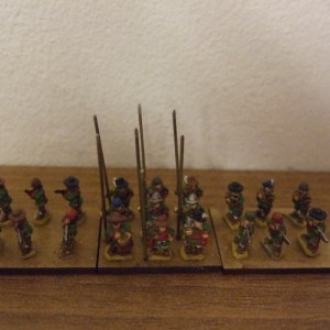 Infantry unit 9 pike with command 12 musket