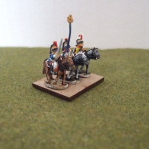 Cuirassier command 3 figures