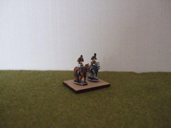 2x Austrian mounted commanders