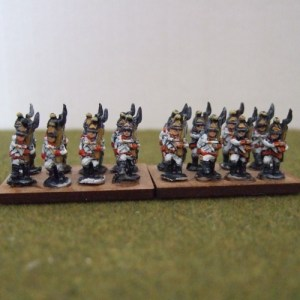 30 Austrian line, mix of figures marching