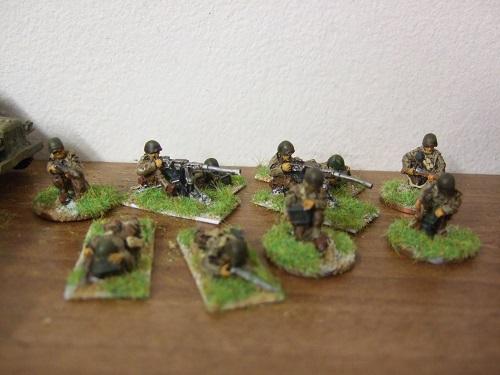 2x .50 cal mg teams firing