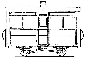 Single Compartment 4 Wheel Coach (based on V of R/Glyn Valley)