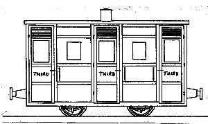 Festiniog & Blaenau 4-Wheel 3rd Class Coach