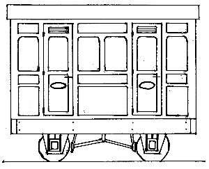 Freelance Panelled 4-Wheel 1st Class 2 Compartment Coach