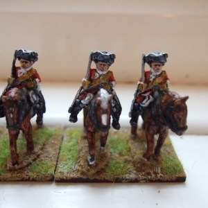British Troopers 3 men + 3 horses