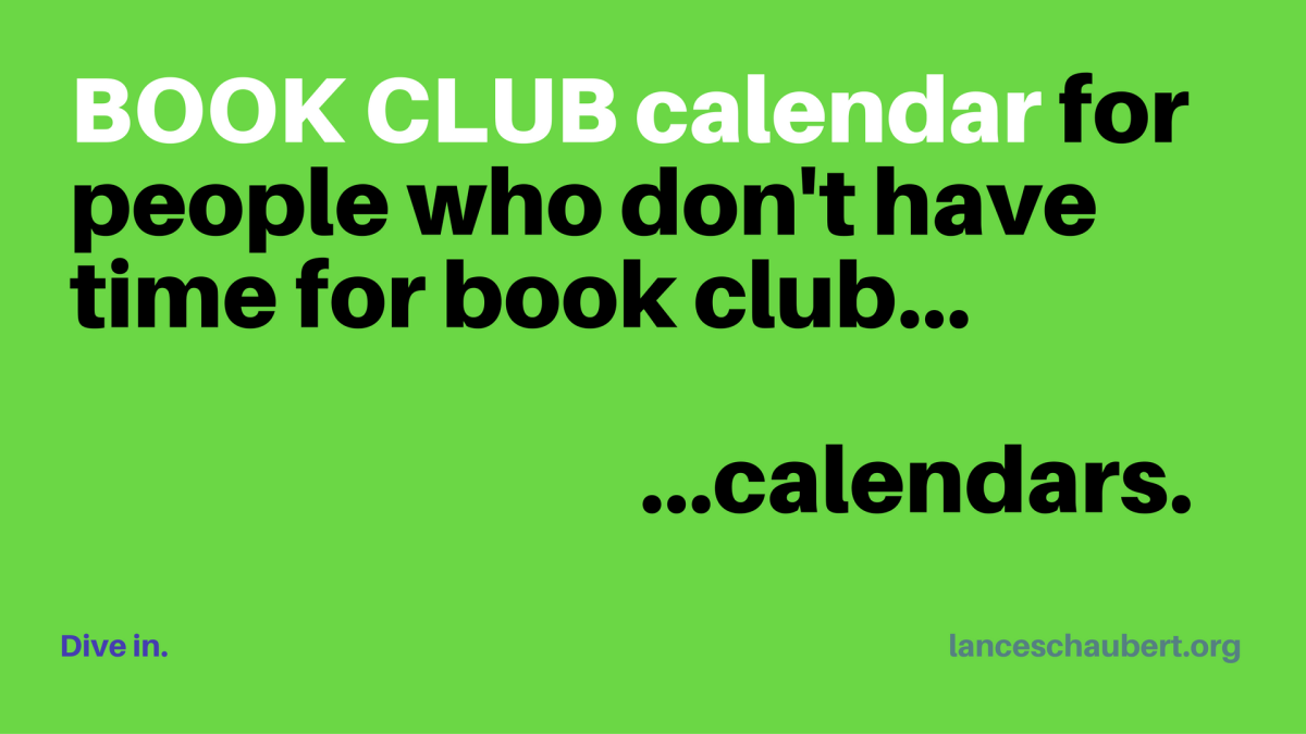 Book Club Calendar (for people who don't have time for book club calendars)