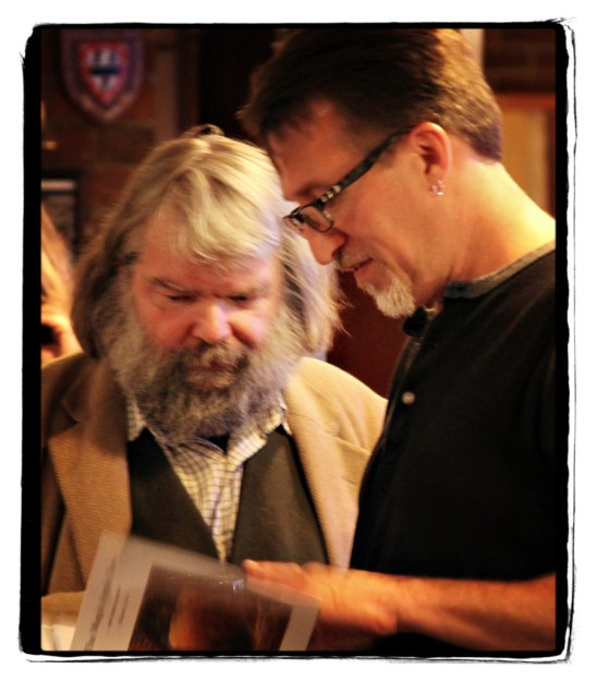 Malcolm Guite and Steve Bell, Cambridge, Image(c) Lancia E. Smith and the C.S. Lewis Foundation, 2011