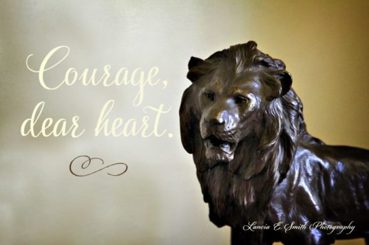 Aslan in the Common Room - Courage